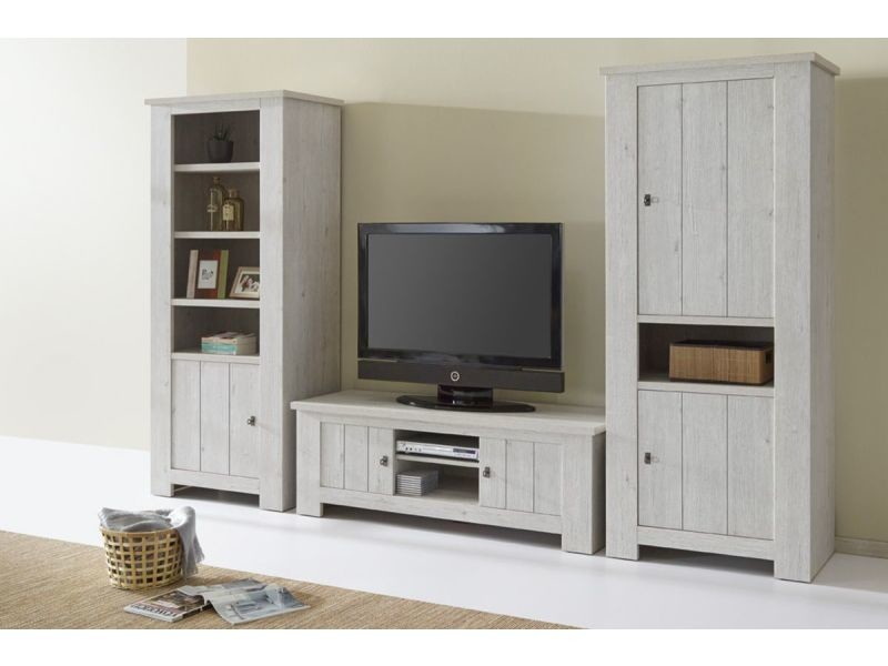meuble tv contemporain 150 cm avec 2 portes et 2 niches de rangement coloris pesaro vente de. Black Bedroom Furniture Sets. Home Design Ideas