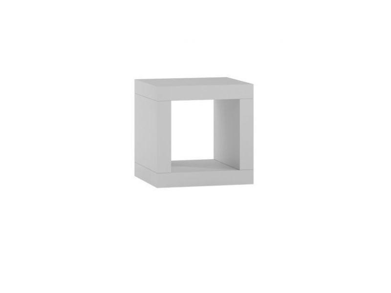 Table de chevet / table de nuit / étagère design kalax - blanc