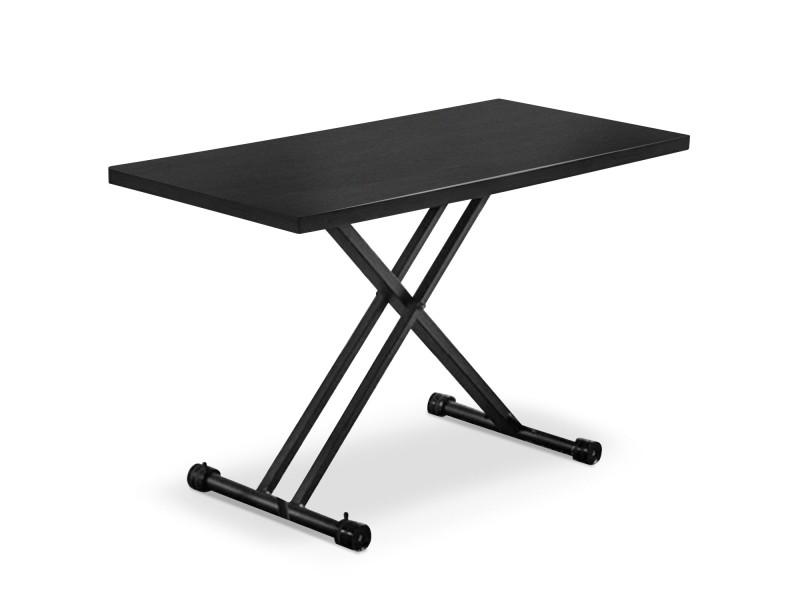 Table basse relevable duke noir mat