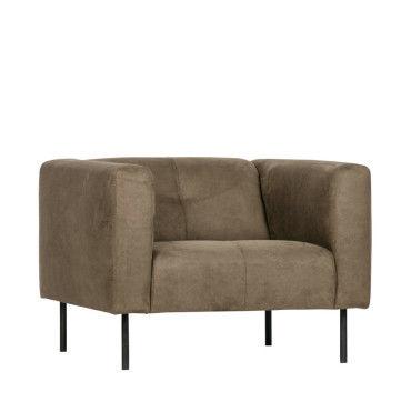 Skin fauteuil en simili couleur vert olive 375115 O