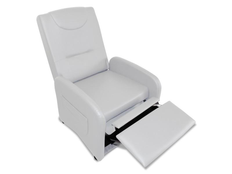 fauteuil relax pliable bristol blanc vente de tous les fauteuils conforama. Black Bedroom Furniture Sets. Home Design Ideas