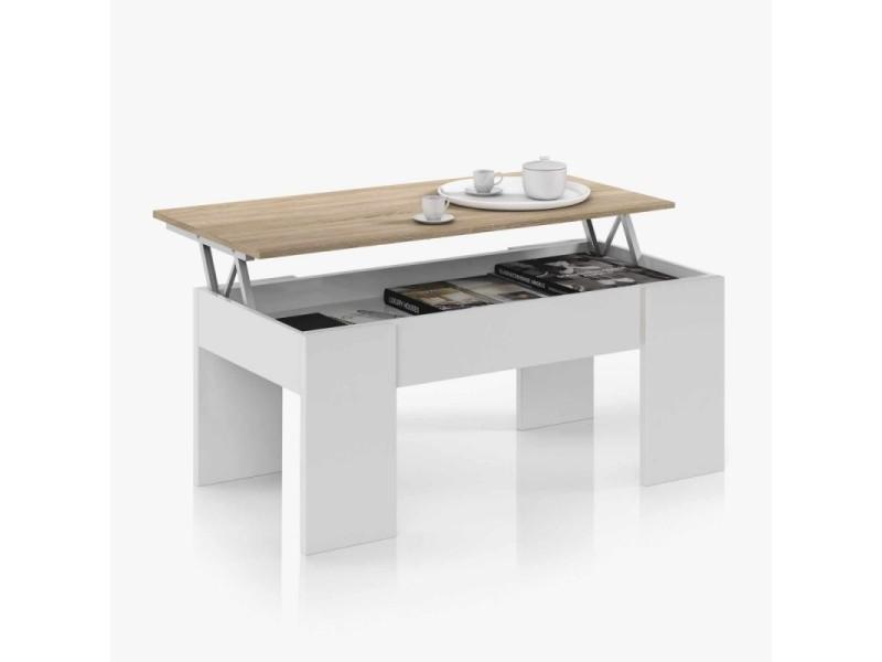 Table basse cenda avec plateau relevable style scandinave fs_0F1640A