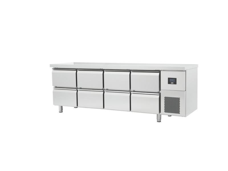 Table réfrigérée négative gamme gn 1/1 - 4 à 8 tiroirs - afi collin lucy - r290 625 litres