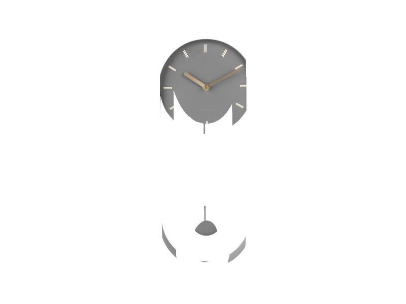 Horloge à balancier design charm - h. 50 cm - gris