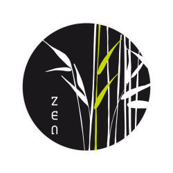 Sticker zen croquis - 50 x 70 cm - bambou