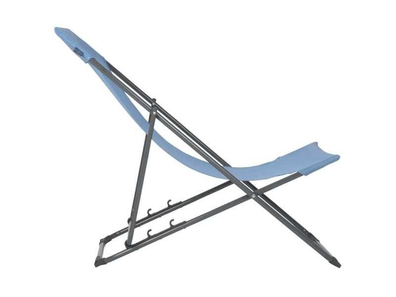 Bo-camp chaise de plage penco bleu 428590