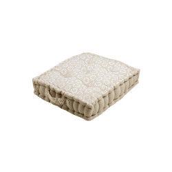 Coussin de sol 45x45x10cm jane lin 100% coton