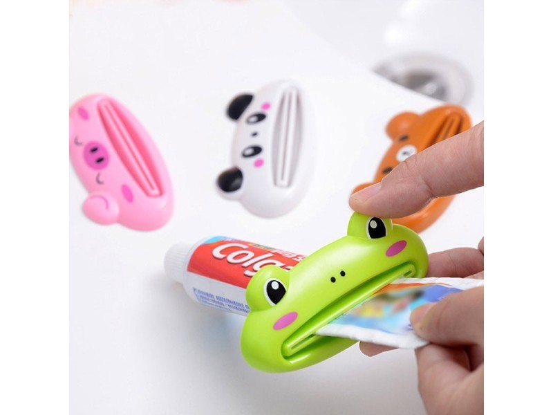 Presse-tube de pâte à dents en forme d'animaux - cochon rose Toothpaste Squeezer Pink Pig