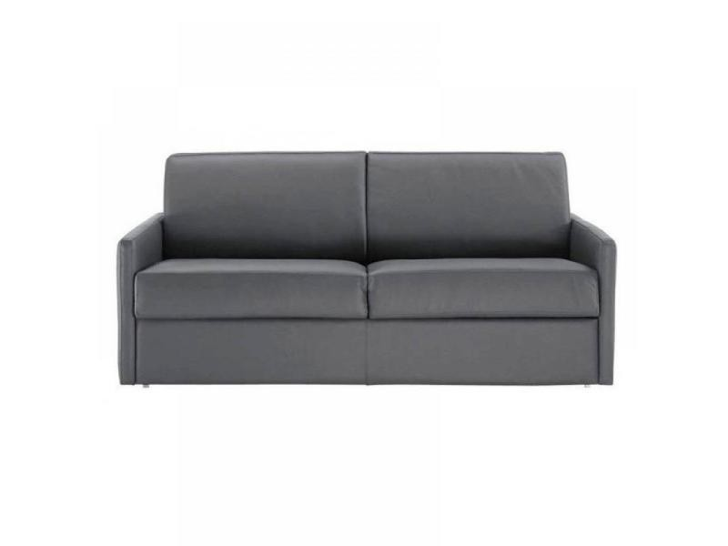 canap lit 3 places sun convertible ouverture rapido 140cm cuir co gris 20100828903 vente de. Black Bedroom Furniture Sets. Home Design Ideas