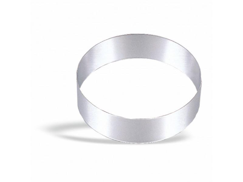 Cercle à mousse inox ø 7,5 à 28 cm - pujadas - inox série 200 18 (ø) cm