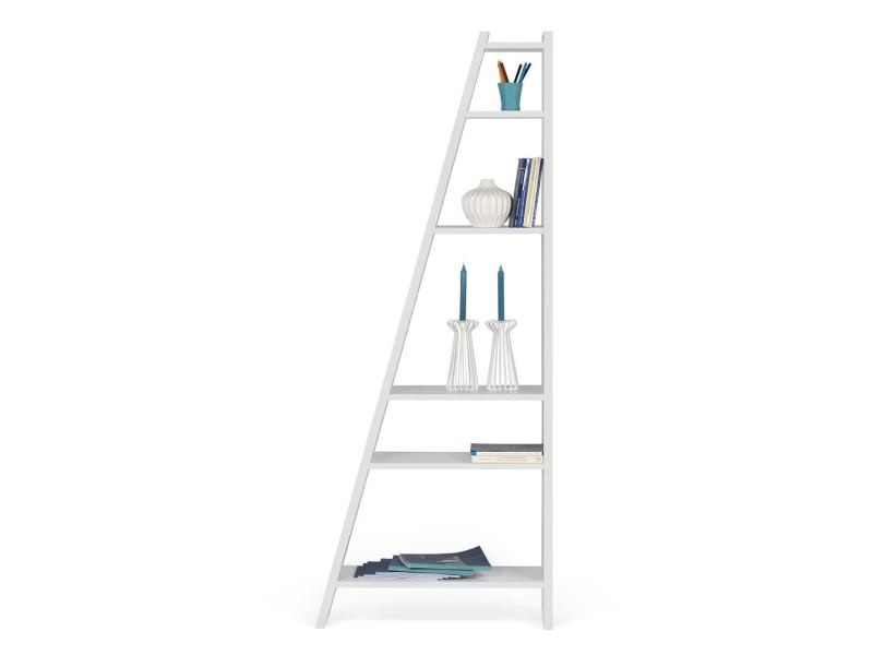 Bibliothèque delta simple - blanc laqué 9500.315305