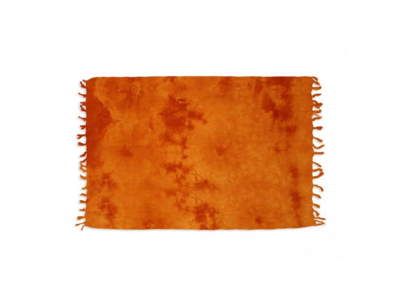 Fouta coton 140x180 cm tie and dye orange