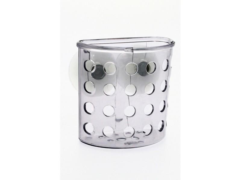 Porte brosse dent de salle de bain ventouse galet gris transparent vente de instant d 39 o - Porte brosse a dent ventouse ...