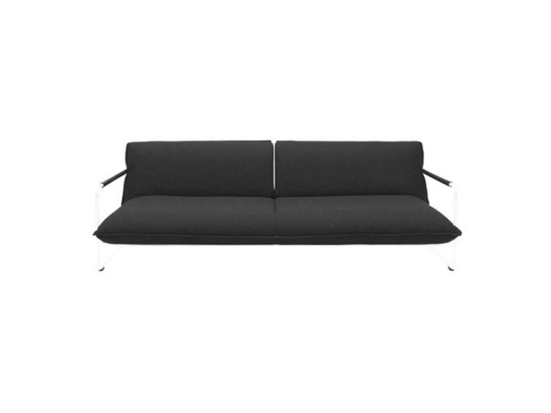 Canapé lit convertible design nova 3 places en tissu gris anthracite structure laquée blanc softline 20100874452