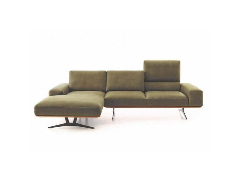 Canapé angle chaise longue charles brown