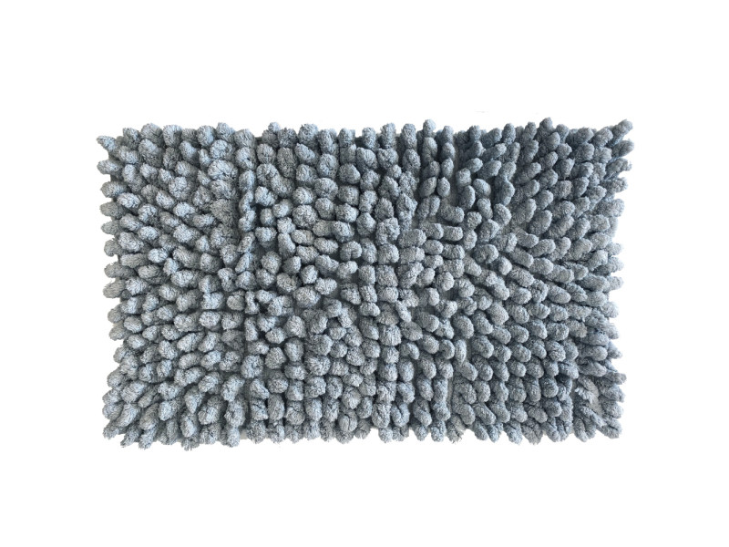 Carpette de bain en coton zinc 50 x 80 cm