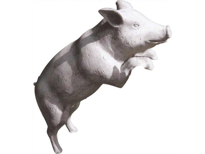 Statue de jardin cochon debout pierre de france 133 cm