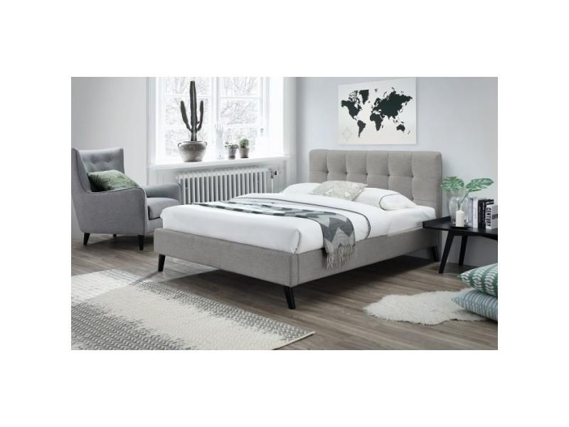lit adulte deux places design fleur sommier 160x200 cm. Black Bedroom Furniture Sets. Home Design Ideas