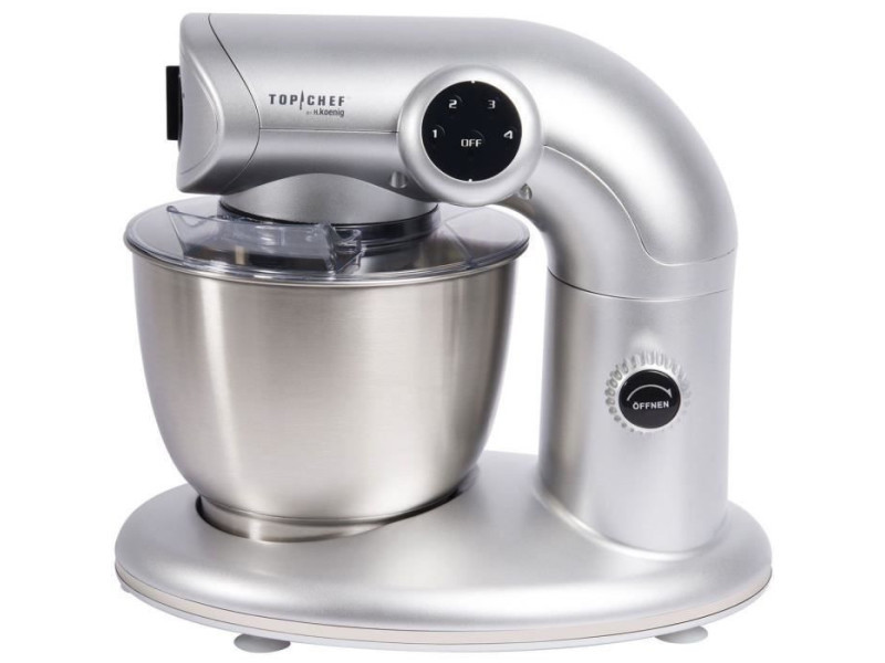 H.koenig robot pâtissier top chef inox 1000w 5l topc416 TOP3760124953770