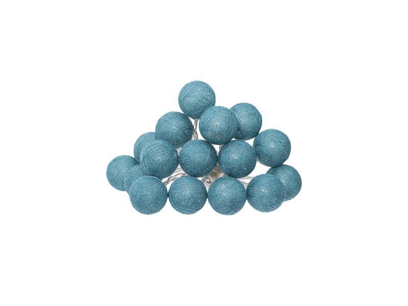 Atmosphera - guirlande décorative lumineuse bleu canard 16 boules led d 3.5 cm et l 261 cm