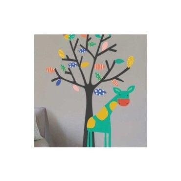 sticker arbre et girafe vente de dezign conforama. Black Bedroom Furniture Sets. Home Design Ideas