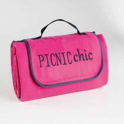 Plaid pique-nique 125x150cm bicolore garden framboise/anthracite
