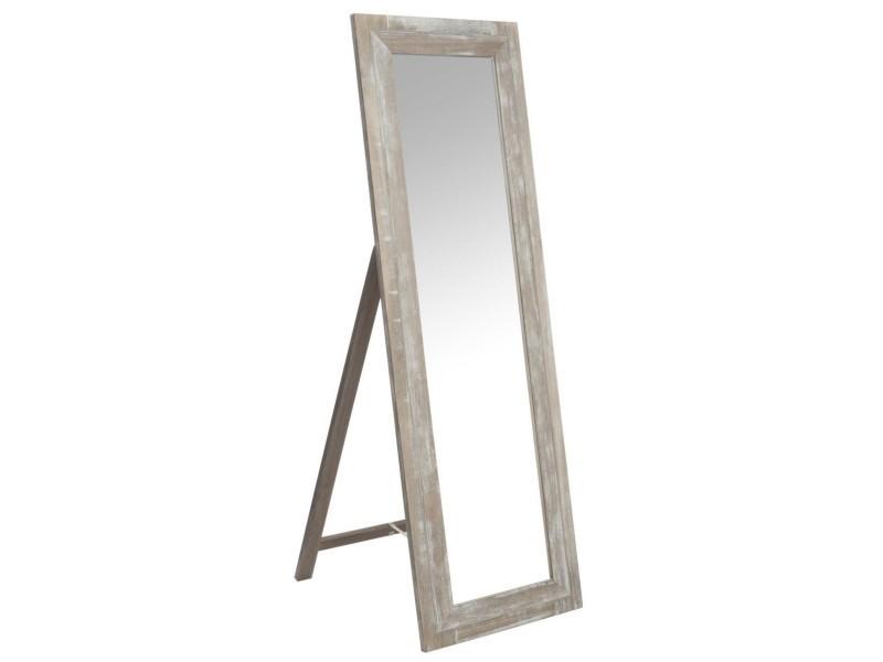 Miroir debout bois naturel 47386 vente de jolipa conforama - Miroir sur pied conforama ...