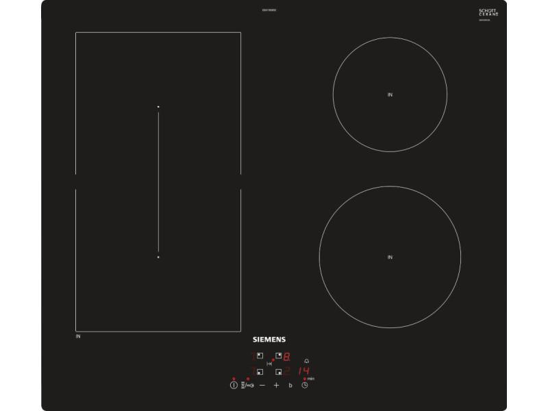 Table de cuisson à induction 60cm 4 foyers 6900w noir - ed611bsb5e ed611bsb5e