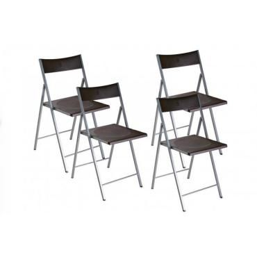 belfort lot de 4 chaises pliantes 20100835523 conforama. Black Bedroom Furniture Sets. Home Design Ideas