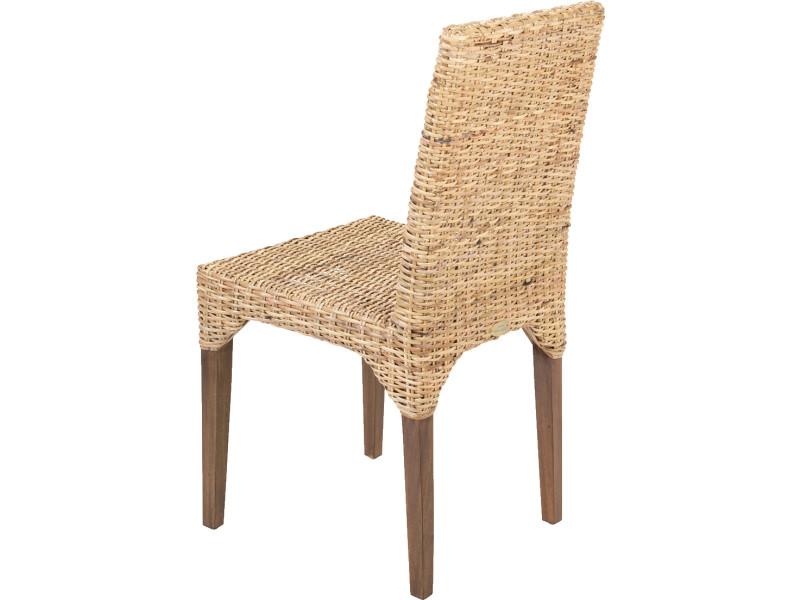 Soldes 54 lot de 2 chaises vitor en kubu tress rotin - Chaise en kubu tresse ...