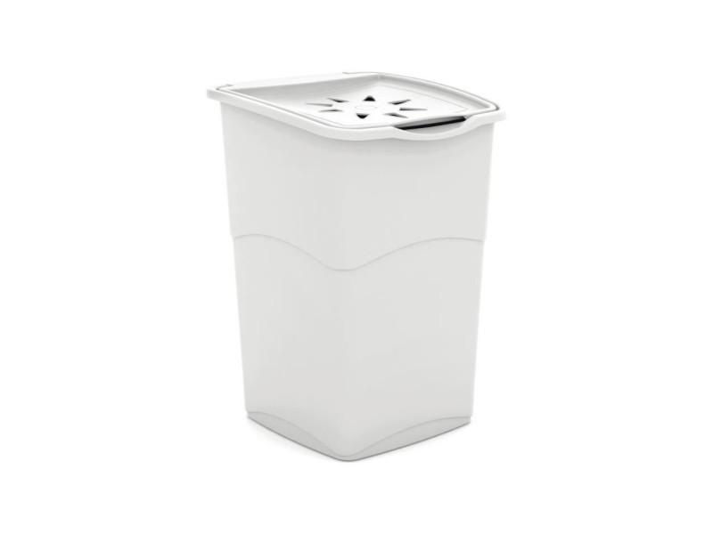 Coffre a linge - 37 x 38 x 53 cm - blanc KIS8013183003388