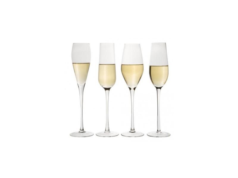 Assortiment de 4 flûtes à champagne design