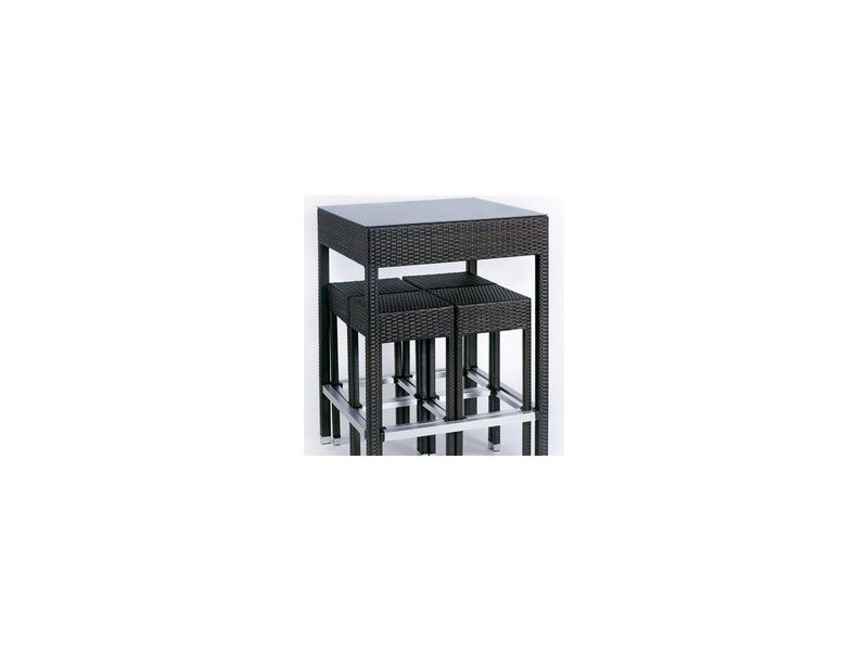 Ensemble alto table haute 4 tabourets vente de hemisphere conforama for Tabouret table haute