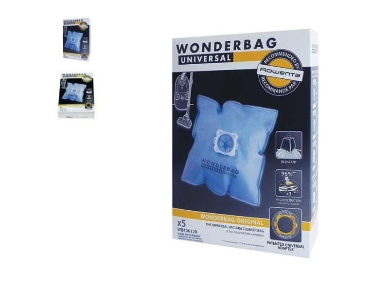 Wonderbag sac à poussière x5 micro fibre pour aspirateur rowenta