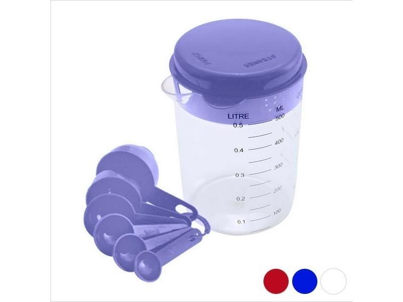 Accessoires de mesure de cuisine (500 ml) - 6 cuillères mesures couleur - orange