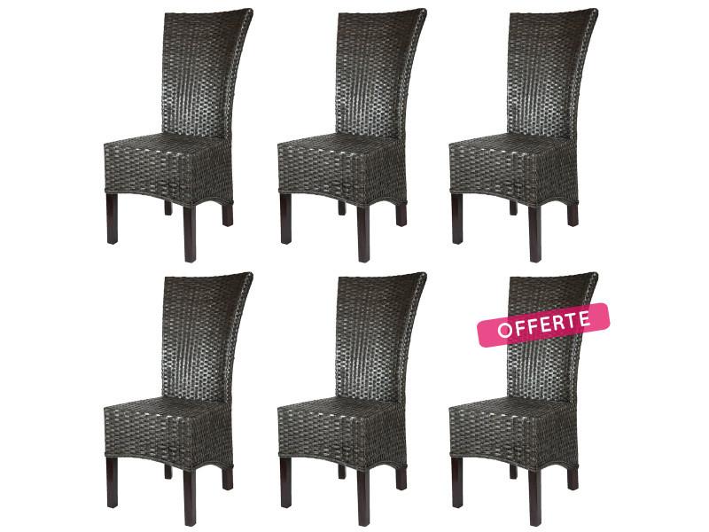 lot de 6 chaises alma en rotin vente de chaise conforama. Black Bedroom Furniture Sets. Home Design Ideas