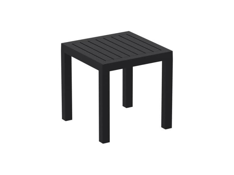 Petite table de jardin en plastique noir résistante aux ...