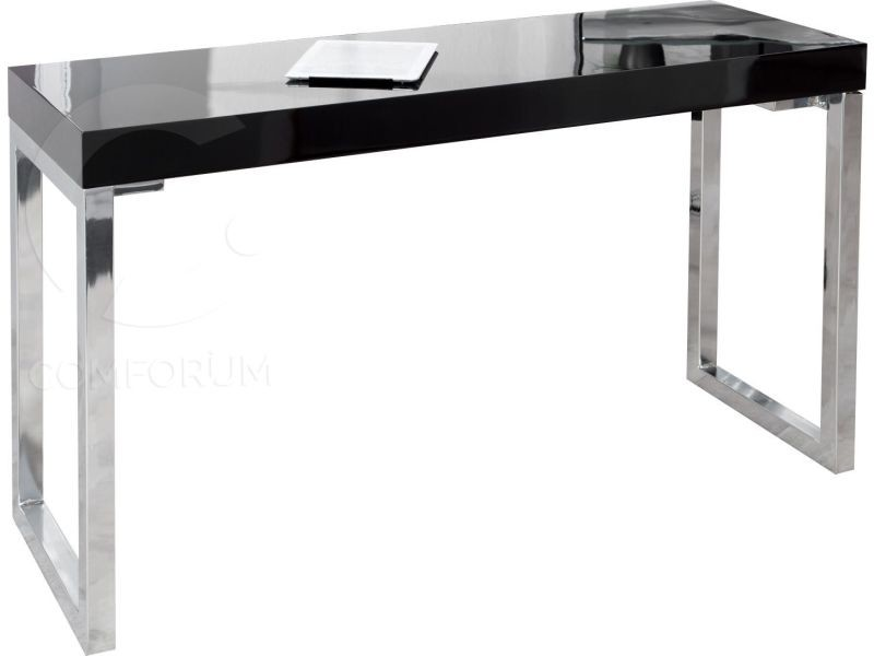 Bureau design rectangle noir laqué de cm vente de comforium