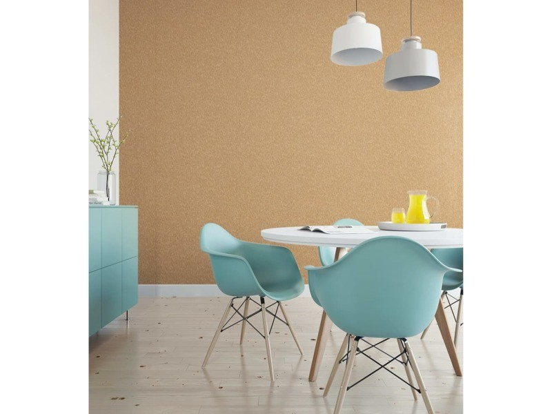 Dutch wallcoverings papier peint velours doré 430659