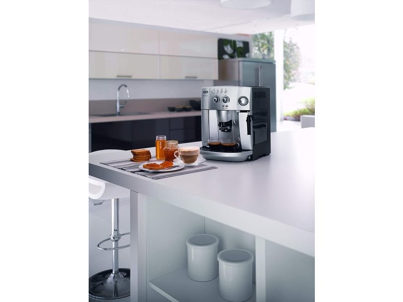 Machine à expresso avec broyeur pour café en grains et moulu 1450w gris