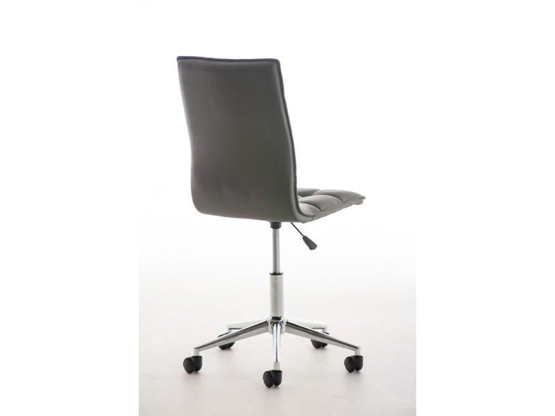 fauteuil chaise de bureau tabouret roulette en simili cuir gris bur10078 conforama. Black Bedroom Furniture Sets. Home Design Ideas