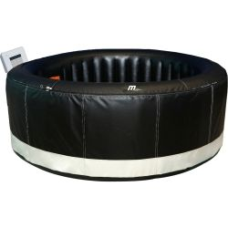 Spa gonflable rond 4 places makaro - ø180cm noir simili