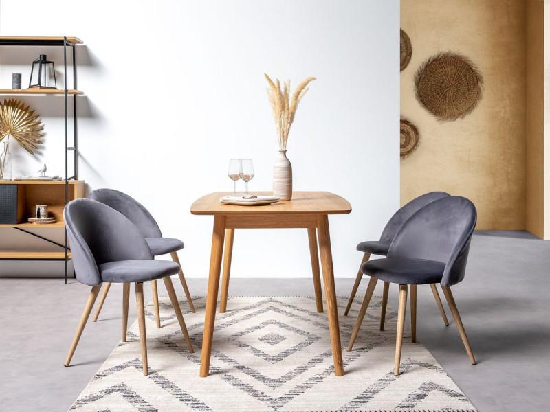 Bobochic table à manger nagane en placage chêne chêne 150