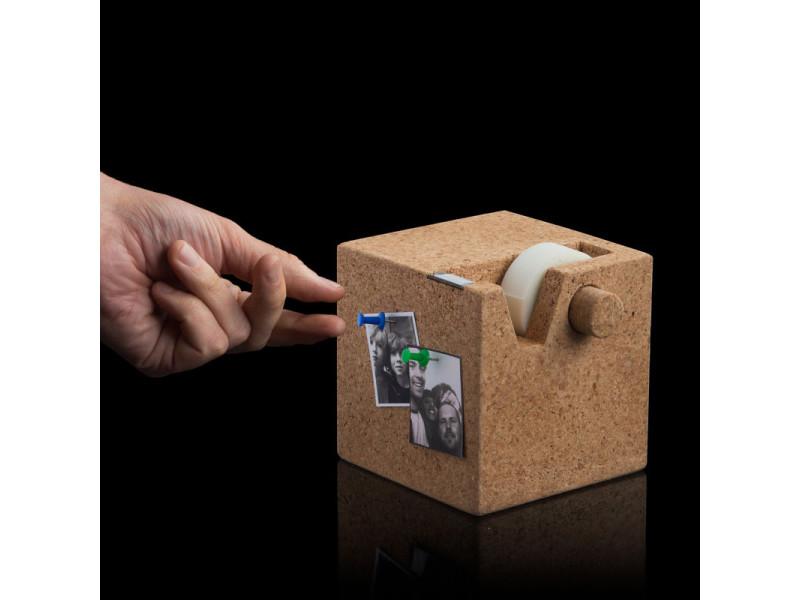 Dévidoir de ruban adhésif cube en liège