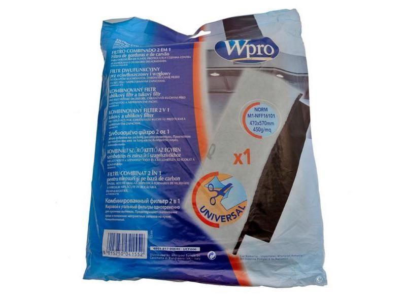 Filtre mousse anti-graisses et odeurs fch009 hotte wpro 484000008524