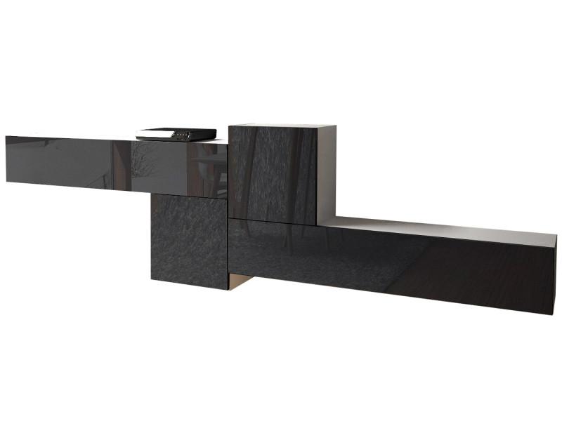 Ensemble de 4 maubles en blanc mat et noir laqué 320 cm