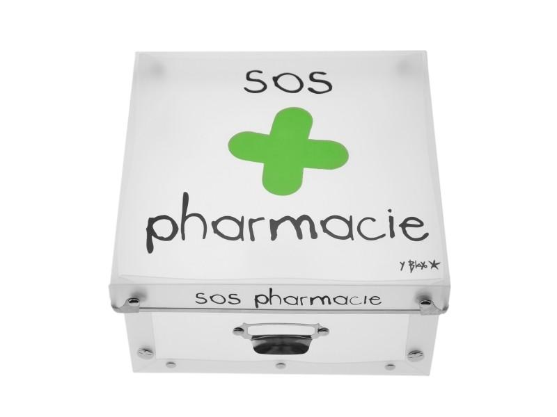 Boite de rangement déco en plastique petit modele - sos pharmacie - Vente de INCIDENCE ...