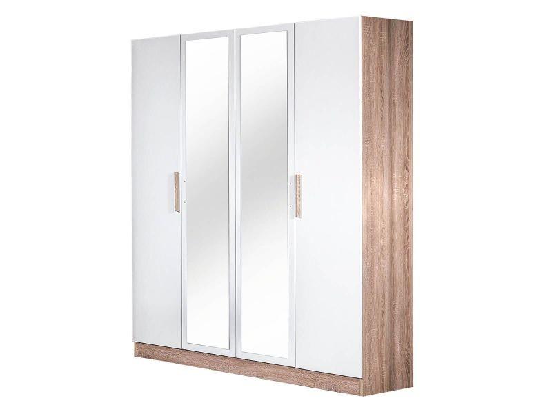 Preem - armoire 4 portes avec miroir central