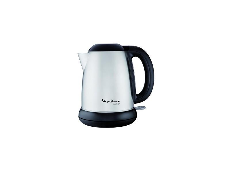 Bouilloire électrique 1.7l inox/noir 2000w filtre anti-tartre anti calcaire amovible