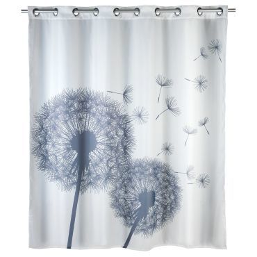 Rideau de douche anti moisissure astera polyester 180 - Anti moisissure salle de bain ...